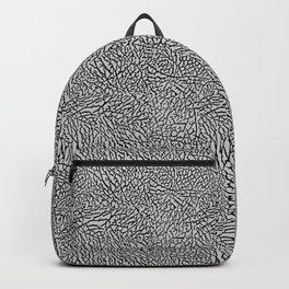 Elephant Print black / gray Backpack