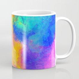 Spilt Rainbow - Abstract, watercolour art / watercolor painting Coffee Mug