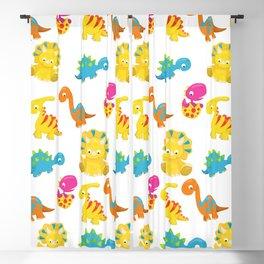Dinosaur Pattern, Baby Dinos, Colorful Dinosaurs Blackout Curtain