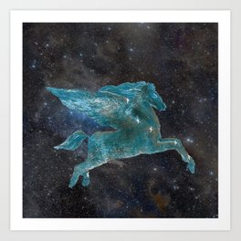 Pegasus and Pleiades Art Print