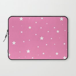Scattered Stars on Pink Laptop Sleeve