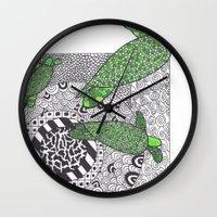 turtles Wall Clocks featuring Turtles by Kandus Johnson