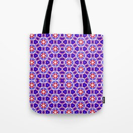 Red, White and Blue Spirals 239 Tote Bag
