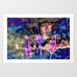 Floral Cloud Drama Art Print