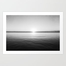 Sun Goes Down Art Print
