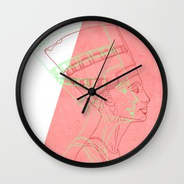 Nefertiti - egyptian heritage Wall Clock