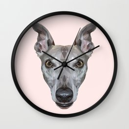 Whippet // Pastel Pink (Vespa) Wall Clock