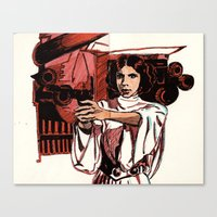princess leia Canvas Prints featuring Leia by FriedPies