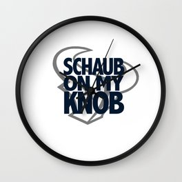 Schaub On My Knob Wall Clock