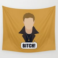 winchester Wall Tapestries featuring 1 Dean Winchester by Alice Wieckowska