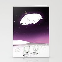 cosmos Stationery Cards featuring Cosmos by Maria Alliaud