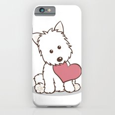 Westie Dog with Love Illustration iPhone 6 Slim Case