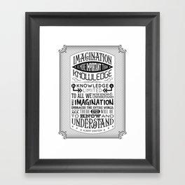 Einstein Imagination Quote poster Framed Art Print