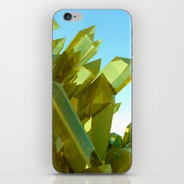 3d Yellow Crystals iPhone Skin