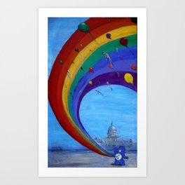 Happy Day or the Day congress committs mass-suicide Art Print