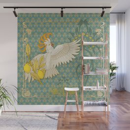 Hoopoe Parrot and Citrus Wall Mural