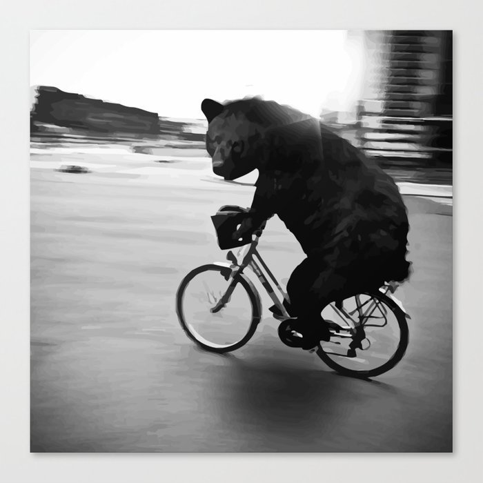 Biker Road Canvas Print