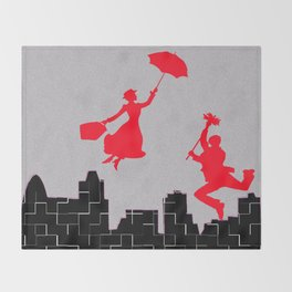 Mary Poppins squares Throw Blanket