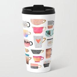 Coffee Cup Collection Metal Travel Mug