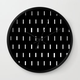White on Black Wall Clock
