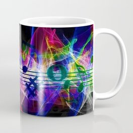 Colorful musical notes and scales artwork Coffee Mug