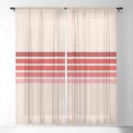 "Red Rainbow ""Love"" Sheer Curtain"