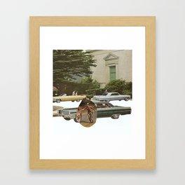 turning wheels Framed Art Print