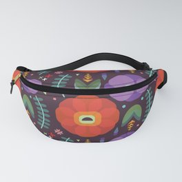 Flowerfully Folk Fanny Pack