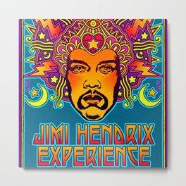 1968 Jimi Hendrix Experience Fillmore East San Francisco Concert Poster Metal Print