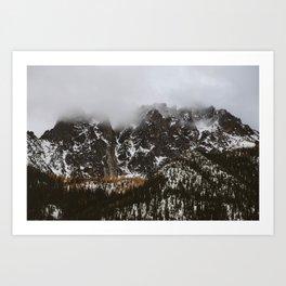 larches on the mountain Art Print