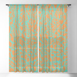 Desert Stream Sheer Curtain