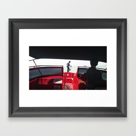 Dropping Anchor Framed Art Print