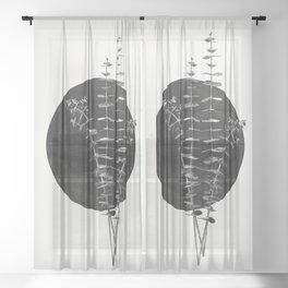 Nature Circle Art Sheer Curtain