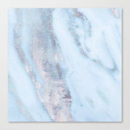 Light Blue Gray Marble Canvas Print