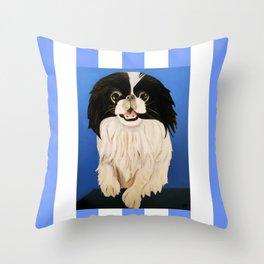 Peke Paisley Throw Pillow