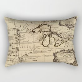 Map Of The Great Lakes 1688 Rectangular Pillow