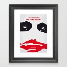 No245 My Dark minimal Knight movie poster Framed Art Print