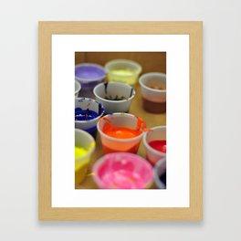 Paint. Framed Art Print
