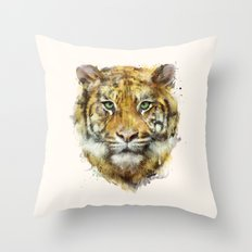 Tiger // Strength Throw Pillow