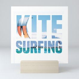 Kitesurfing Kitesurfer Kiteboarder Mini Art Print