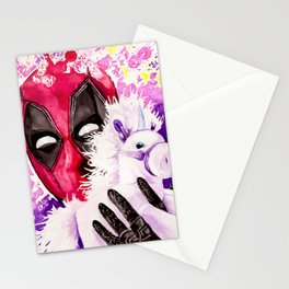 Wade Wilson and Unicorn Pal Stationery Cards