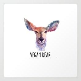 Vegan Dear Art Print