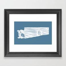 Deep Seasaw Diver Framed Art Print
