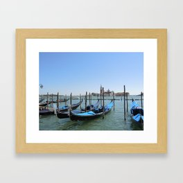 Gondole Framed Art Print