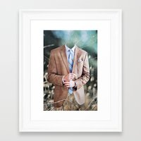 suit Framed Art Prints featuring Suit by John Turck
