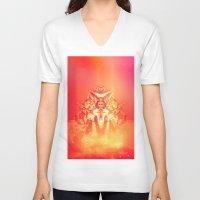 prometheus V-neck T-shirts featuring Prometheus Uprising by chyworks