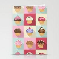 cupcakes Stationery Cards featuring Cupcakes by Rosa Puchalt