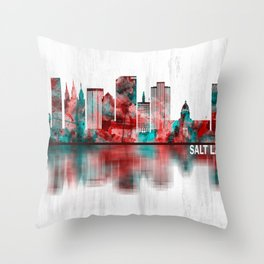 Salt Lake City Utah Skyline Throw Pillow