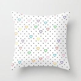 Candy Heart Spots Throw Pillow