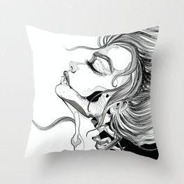 Skull Portrait Throw Pillow